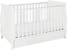 Cuggl Westbury Baby Cot Bed and Drawer - White
