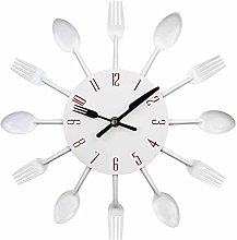 CUHAWUDBA Kitchen Wall Clock, Timelike 3D