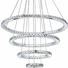 CUICAN Modern LED 108W Crystal Pendant Light,Ring