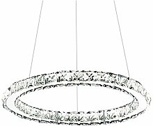 CUICAN Modern LED 24W Crystal Pendant Light,Ring