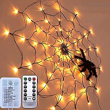 CUIFULI Halloween Spider Web Lights with Plush
