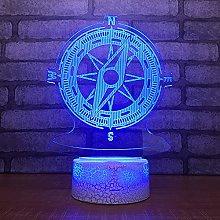 CUISHI 3D Illusion lamp led Night Light Vintage