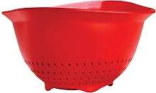 Cuisipro Colander, 3-Quart, Red, Red