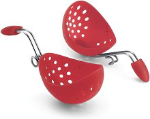 Cuisipro Egg Poacher, Set of 2, Red
