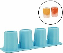 CULER 4 Cup Shape Silicone Ice Cube Mold Shooters