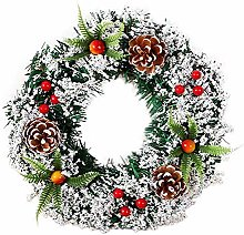 CULER Christmas Wreath Front Door Hanging Garland