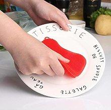 CULER Silicone Dishwashing Kitchen Sponge Scrubber