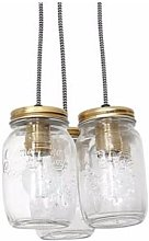 Culinary Concepts - Cluster Of 3 Jar Pendant Light