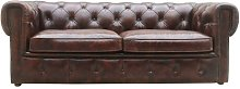 Cumberland Leather 3 Seater Chesterfield Sofa