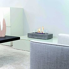Cuneo Free-standing Table Fireplace in Concrete