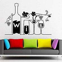Cup and Bottle Kitchen Wall Decals Restaurant bar