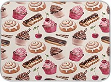 Cup Cake Chocolate Cherry Dish Drying Mat Large