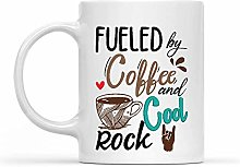 Cup Fueled by Coffee and Cool Rocks Porcelain Cup