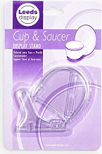 Cup & Saucer Display Stand, Clear