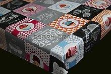 Cupcake Bakery Patchwork PVC Tablecloth