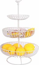 Cupcinu Fruit Basket 3- Tier Metal Fruit Plate