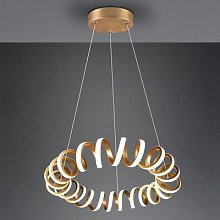 Curl LED pendant light, SwitchDim, gold