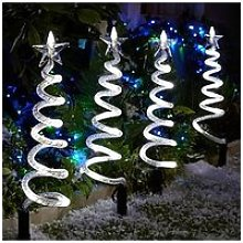 Curly Pathfinders Outdoor Christmas Decorations (4