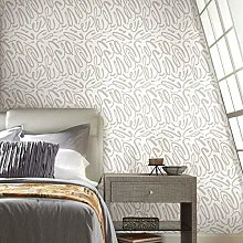Curly Strokes Adhesive Wallpaper