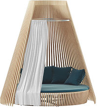 Curtain - / For Hut round sofa by Ethimo White