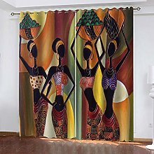 Curtain Blackout African style 3D Print Super soft