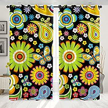 Curtain,Blackout Thermal Insulated Creative Yellow