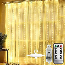 Curtain Fairy Lights, 300LEDs 3M * 3M, Indoor