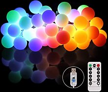Curtain Fairy Lights with Remote USB Powered,