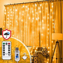 Curtain Lights 3M X 3M 300 LED Warm White with