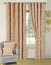 Curtain Pair Heavy Crushed Velour Fully Lined Ring
