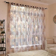 Curtain Panel 2 Panels Floral Tree Sheer Curtains