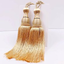 Curtain straps 2 pieces tennis curtain in gold