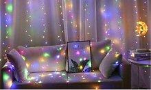 Curtain String Lights: 300 LEDs / Warm Lights /