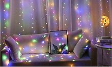 Curtain String Lights: 300 LEDs / White and Warm