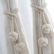 Curtain tie rope 2 pieces window decoration tie