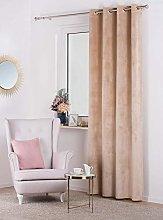Curtain Velvet, beige