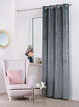 Curtain Velvet, grey