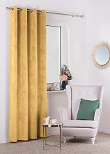 Curtain velvet, mustard