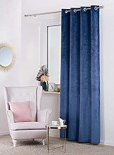Curtain Velvet, navy blue