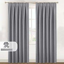 Curtains 90 Drop - Pencil Pleat Top Light Blocking
