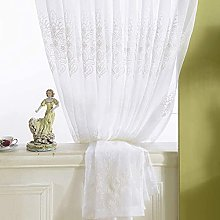 Curtains Embroidery Cotton Linen Voile Curtain,