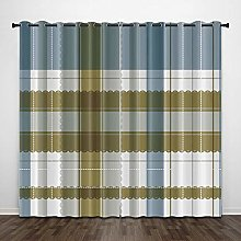 Curtains Eyelet,Blackout Thermal Insulated Curtain