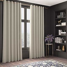Curtains Faux Silk, Thermal Insulated, 3 Pass 100%
