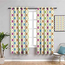 curtains for bedroom Color pattern geometry 104 x