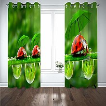 curtains for bedroom Red animal print 104 x 72