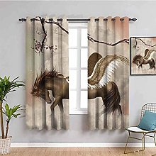 curtains for bedroom Retro branch animal horse 112