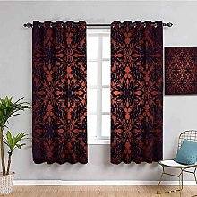 curtains for bedroom Retro brown art 104 x 95.6