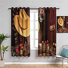 curtains for bedroom Retro christmas hat ball 104