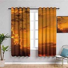 curtains for bedroom Sunset sky clouds landscape