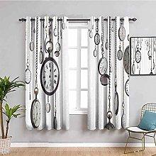 curtains for bedroom Vintage white time pocket